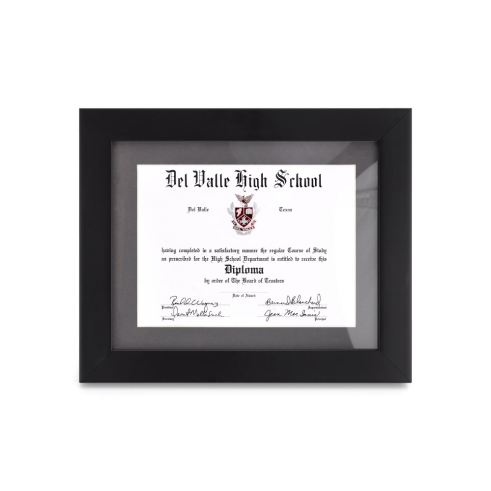 Diploma Signature Frame – West Texas Graduation Services