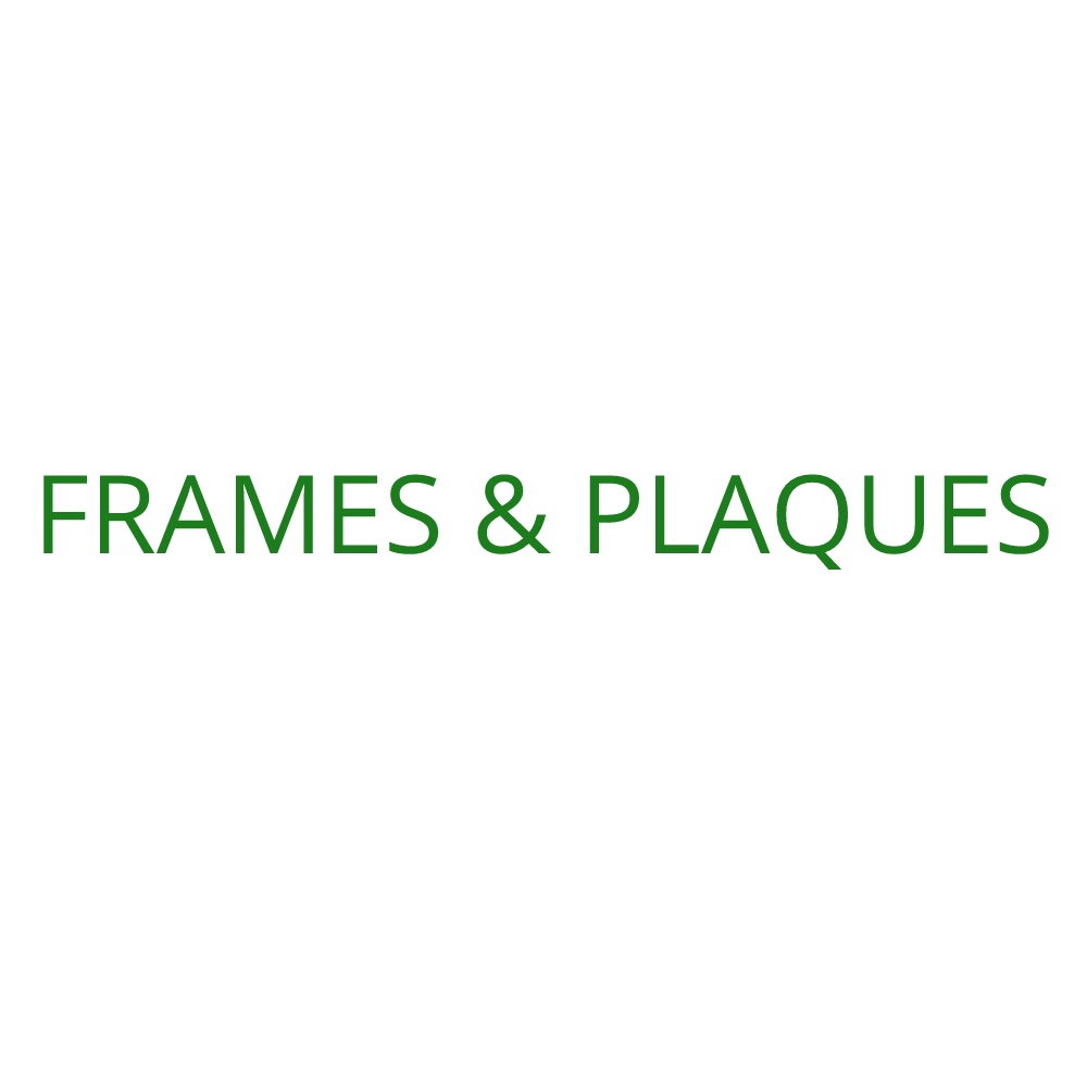 2019 Frames & Plaques