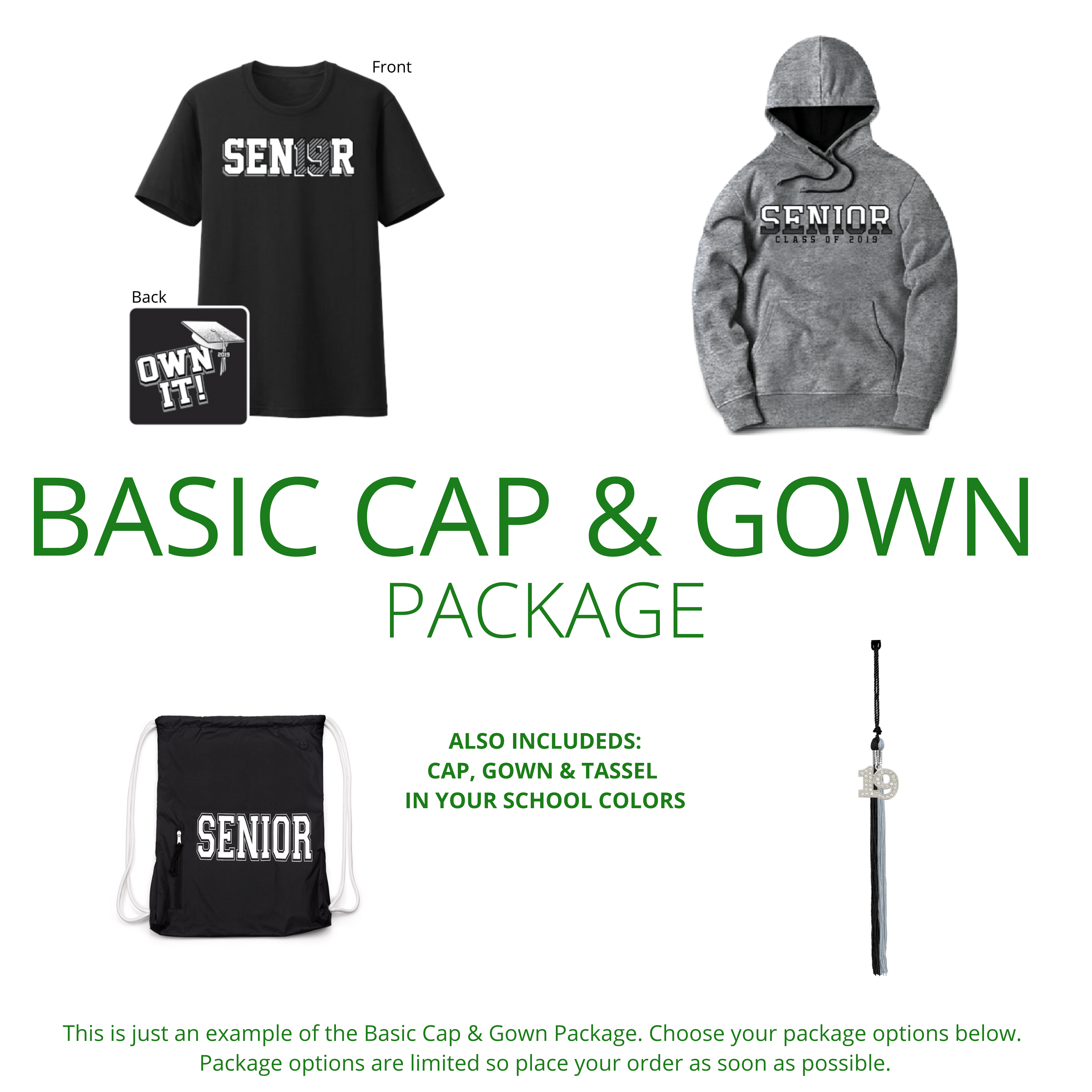 The Basic Cap & Gown Package – West Texas Graduation Services