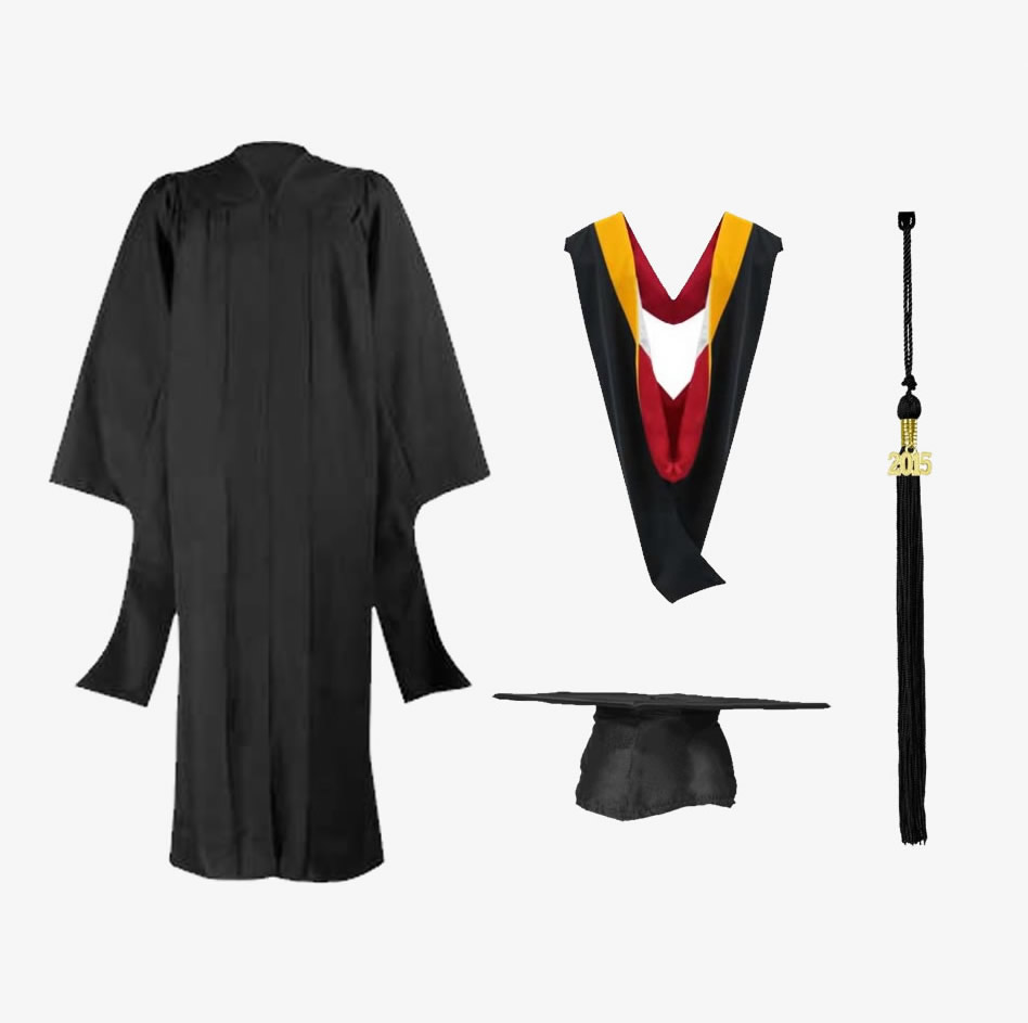 Masters Rental Cap Gown Hood Tassel Package West Texas