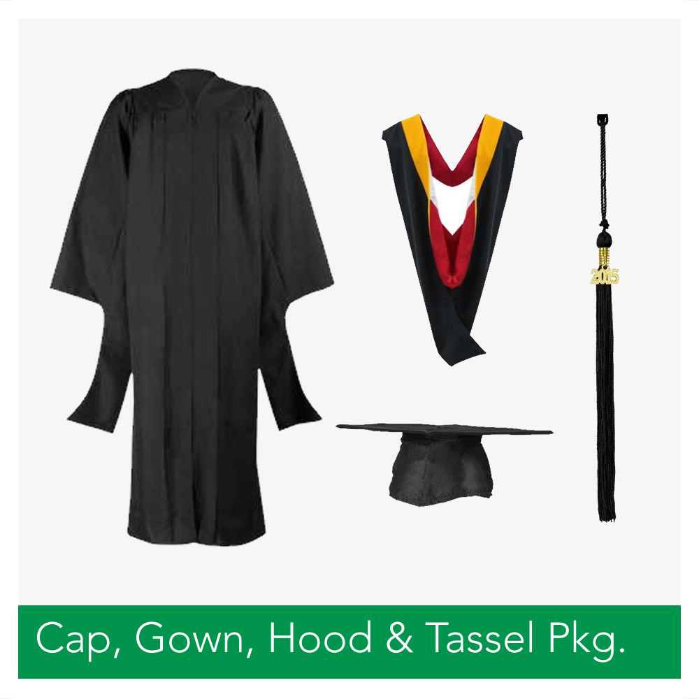 Master's Cap, Gown, Hood & Tassel Package – West Texas Graduation ...